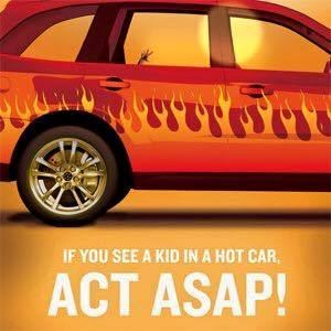 Kid in a Hot Car - Act ASAP! by Ready Graphic
