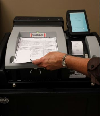 Cropped Voting Machine